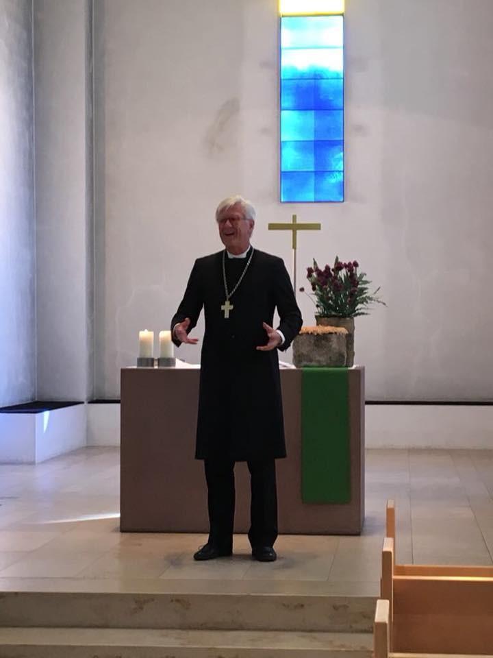 Morgenandacht in der Gustav-Adolf-Kirche in Mellrichstadt  (c) Landesbischof